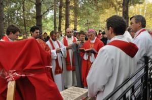 Молитва у могилы мучениц