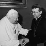 Епископ Иосиф Верт на аудиенции у Папы Иоанна Павла II