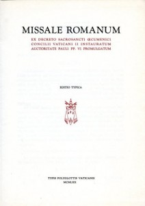 Титульный лист Миссала Павла VI