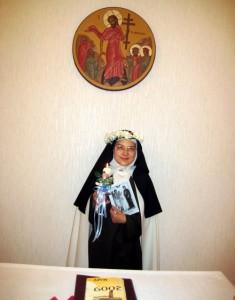 Сестра Христина после принесения обетов