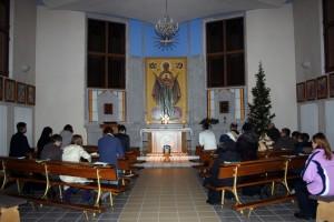 Молитва в часовне