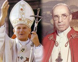 Достопочтенные Иоанн Павел II и Пий XII