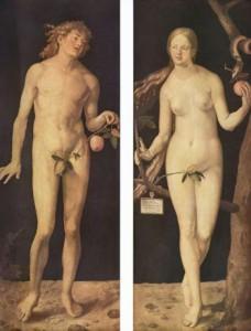 диптих Дюрера Адам и Ева