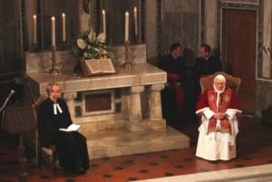 Папа Римский в лютеранской церкви в Риме