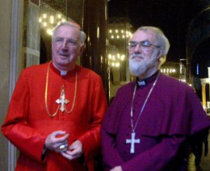 Кардинал Кормак Мэрфи-О'Коннор и архиепископ Кентерберийский Роуэн Уильямс