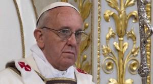 Папа Франциск на Мессе в базилике Св. Павла вне стен. 14 апреля 2013 г.