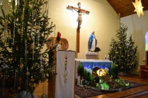 Рождественское убранство храма Непорочного Зачатия в Новосибирске