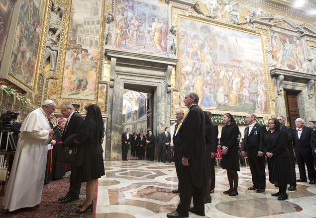 Папа Франциск выступил перед представителями аккредитованного при Ватикане дипломатического корпуса