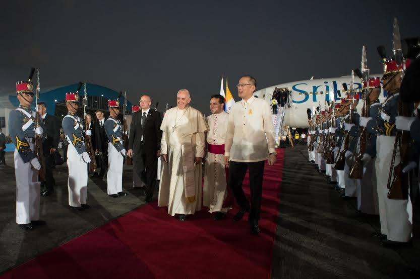 Папа Франциск прибыл с Апостольским визитом на Филиппины
