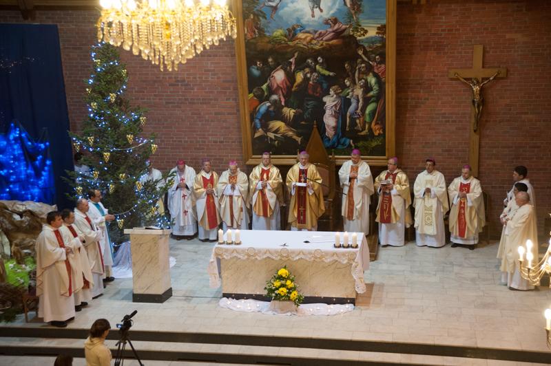 Торжественная Святая Месса в Кафедральном соборе Новосибирска с участием епископов России, Казахстана и Средней Азии. 28 января 2015 года