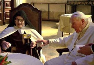 Папа Иоанн Павел II и сестра Лусия