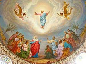 Сцена Вознесения под куполом храма