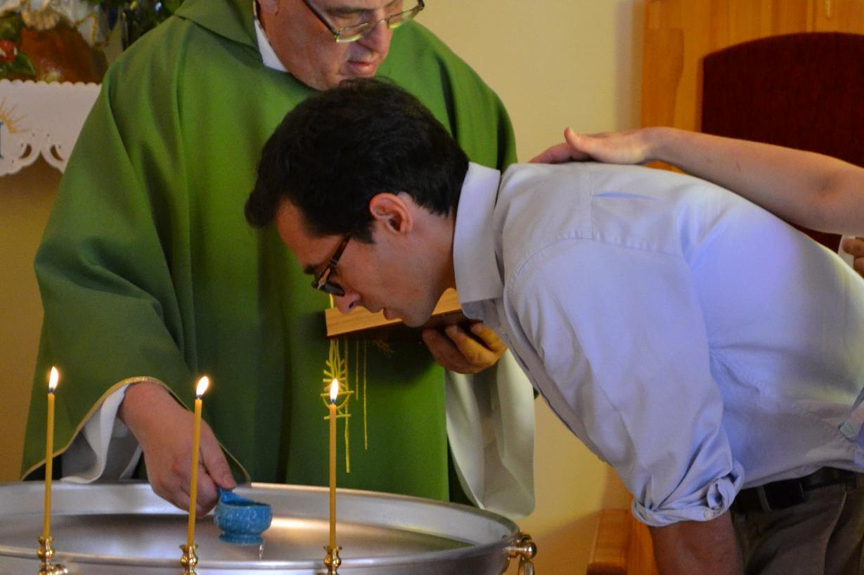 «Марко, я крещу тебя во имя Отца и Сына и Святого Духа»