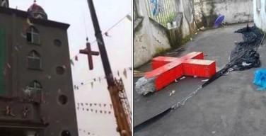 Китайские христиане водружают на место кресты, поваленные властями