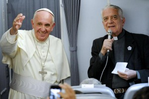 Pope Francis on way back from South America tour