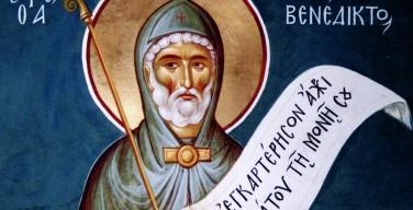 11 июля. Святой Бенедикт Нурсийский. Память (в европейской части России – праздник)