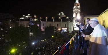 Папа в Эквадоре: Визит вежливости к Президенту и посещение Кафедрального собора Кито