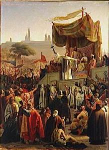 Бернард Клервосский проповедует в пользу Крестового похода