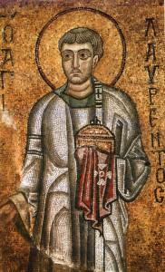 Фреска св. Лаврентия в Софийском соборе