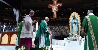 Папа на Мессе в «Медисон-сквер-гарден»: Бог живёт в наших городах