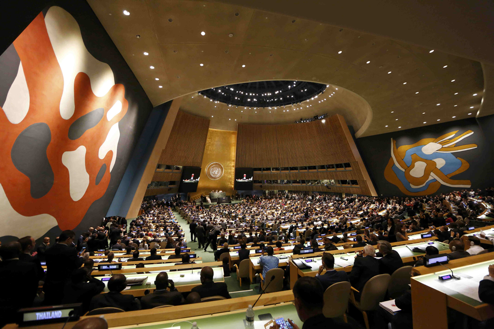 Папа Франциск в штаб-квартире ООН (фоторепортаж)