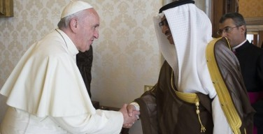 Папа встретился с премьер-министром Кувейта