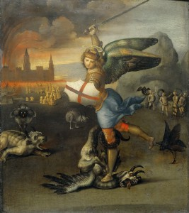 Архангел Михаил попирает сатану