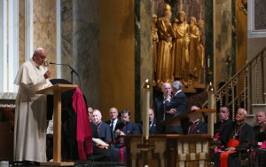 Pope Francis Attends Midday Prayer At St Matthew The Apostle Church In DC