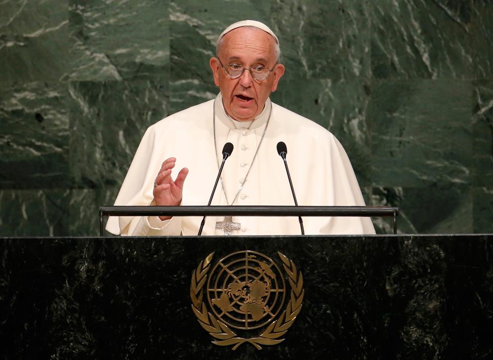 Речь Папы Франциска к Генеральной ассамблее ООН: «Не будьте организацией наций, объединенных страхом и недоверием»