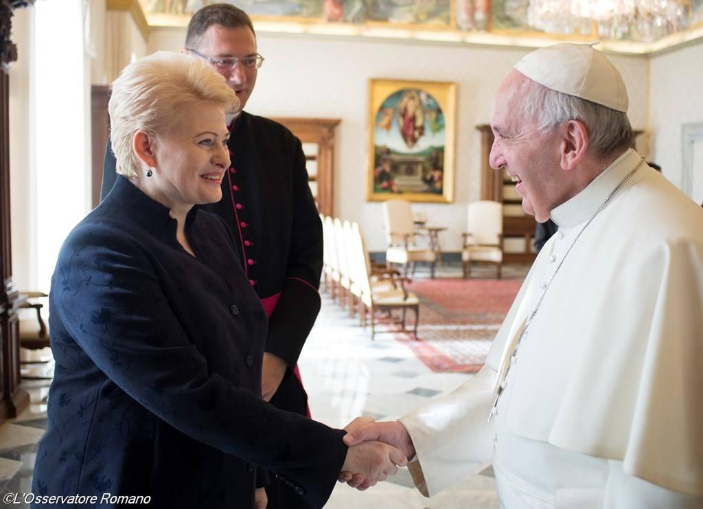 Папа встретился с президентом Литвы