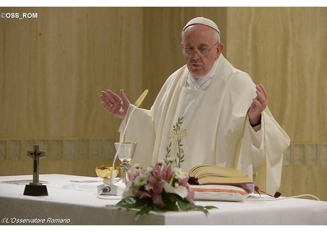 Проповедь Папы Франциска на Мессе в Доме Св. Марфы в понедельник 16 ноября: «Не поддаваться духу мира сего»