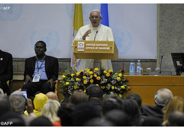 Выступление Папы Франциска в Офисе ООН в Найроби