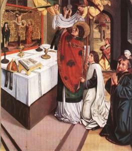 Святой Мартин служит Мессу