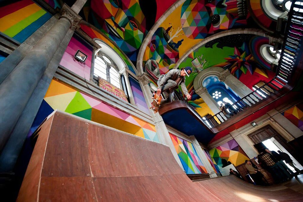В Испании из вековой церкви сделали скейт-парк (+ВИДЕО)