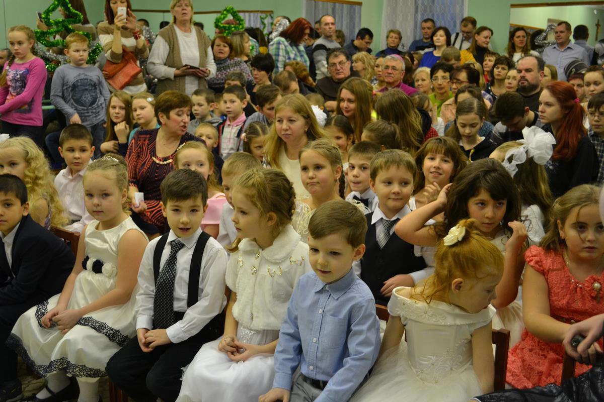 Рождественский спектакль в католической школе Рождества Христова