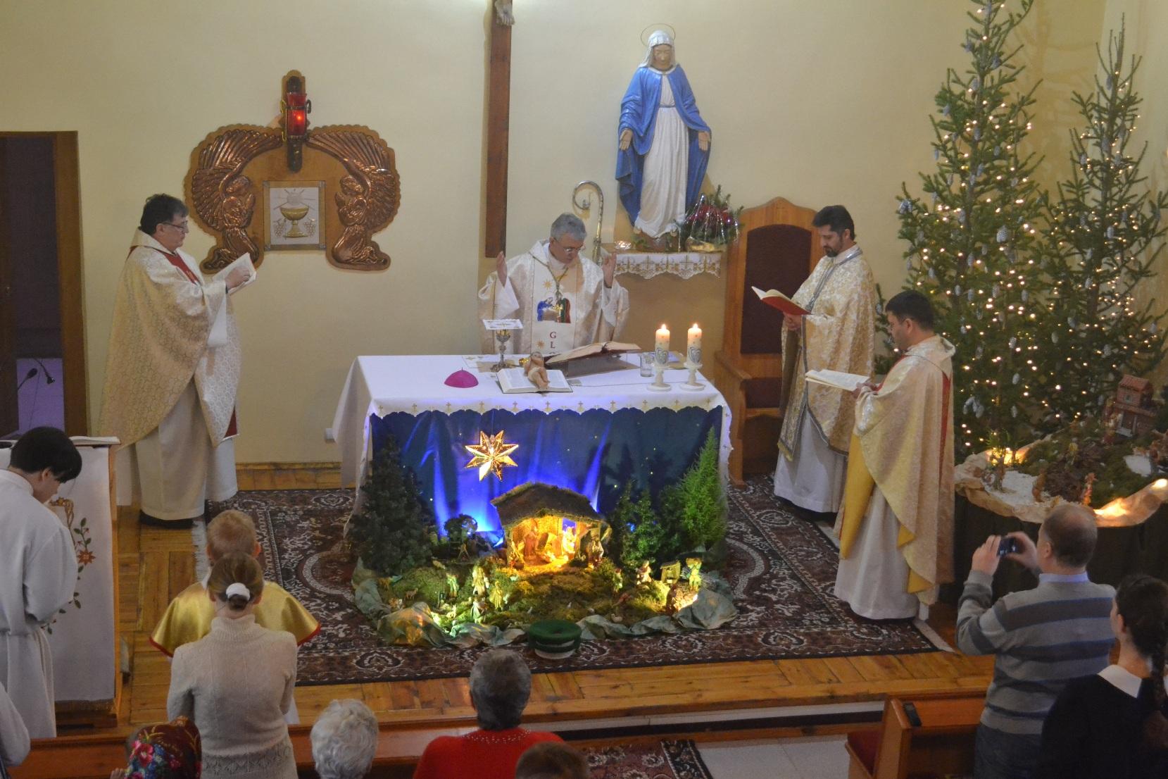 Рождество-2015 в новосибирском приходе францисканцев