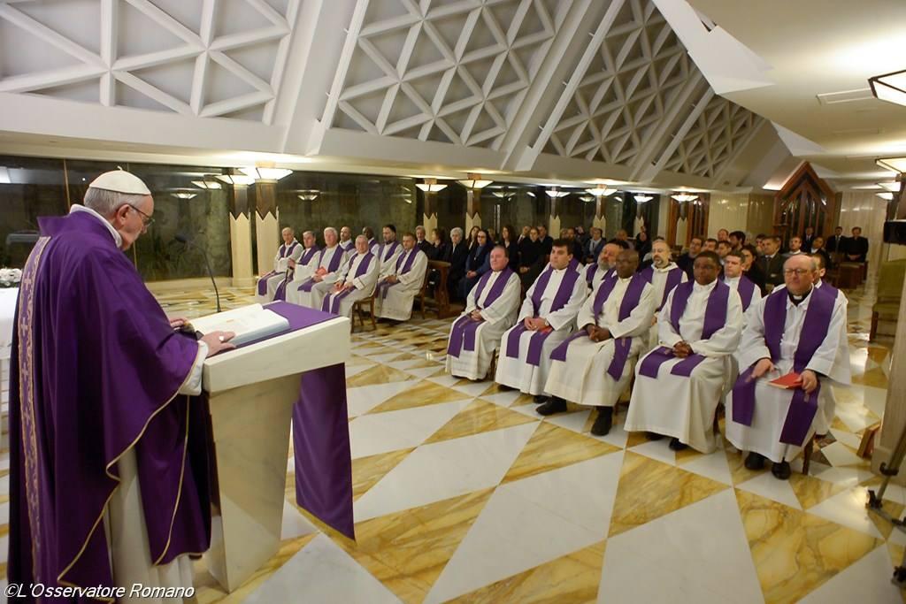 Папа Франциск в Доме Св. Мафры: Церкви надлежит быть бедной и смиренной