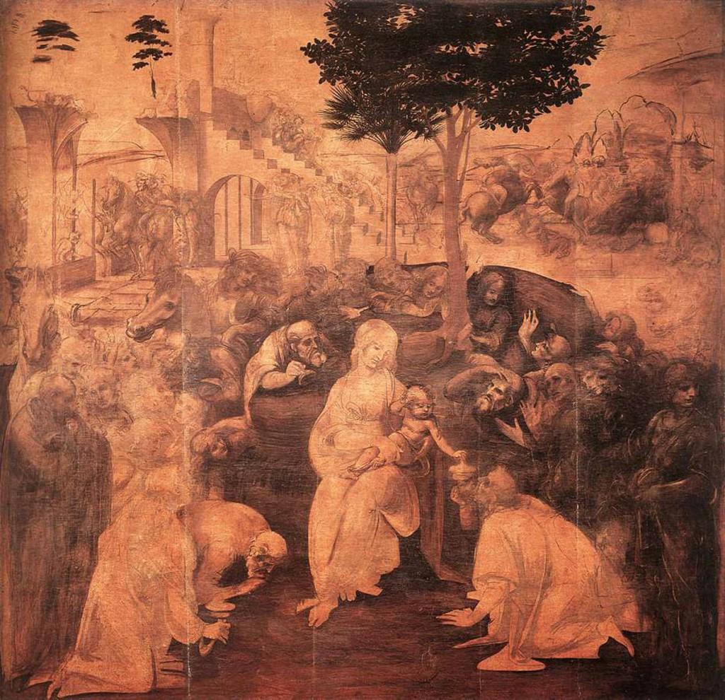 Leonardo da Vinci - The Adoration of the Magi, 1481