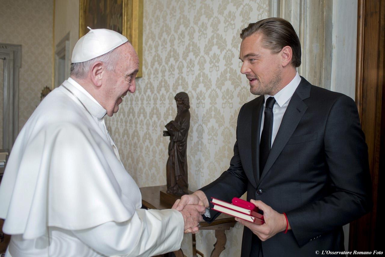Папа Франциск принял на аудиенции  киноактера Леонардо Ди Каприо (+ ВИДЕО)