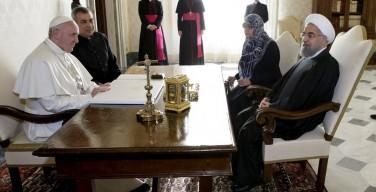 Папа встретился с президентом Ирана