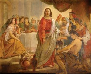 Чудо в Кане Галмилейской. Роспись на стене Исаакиевского собора