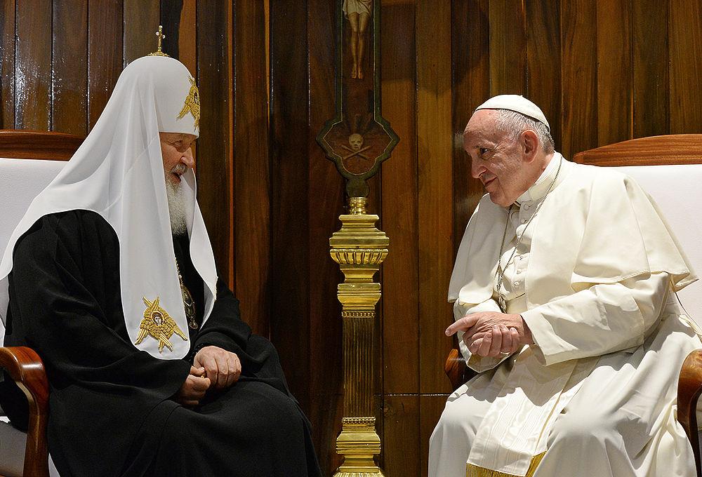 РПЦ оценивает встречу Папы и Патриарха как «очень успешную»