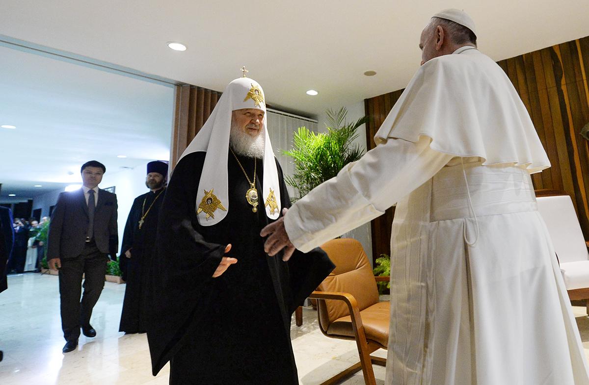 Папа прибыл на встречу с Патрирхом Московским