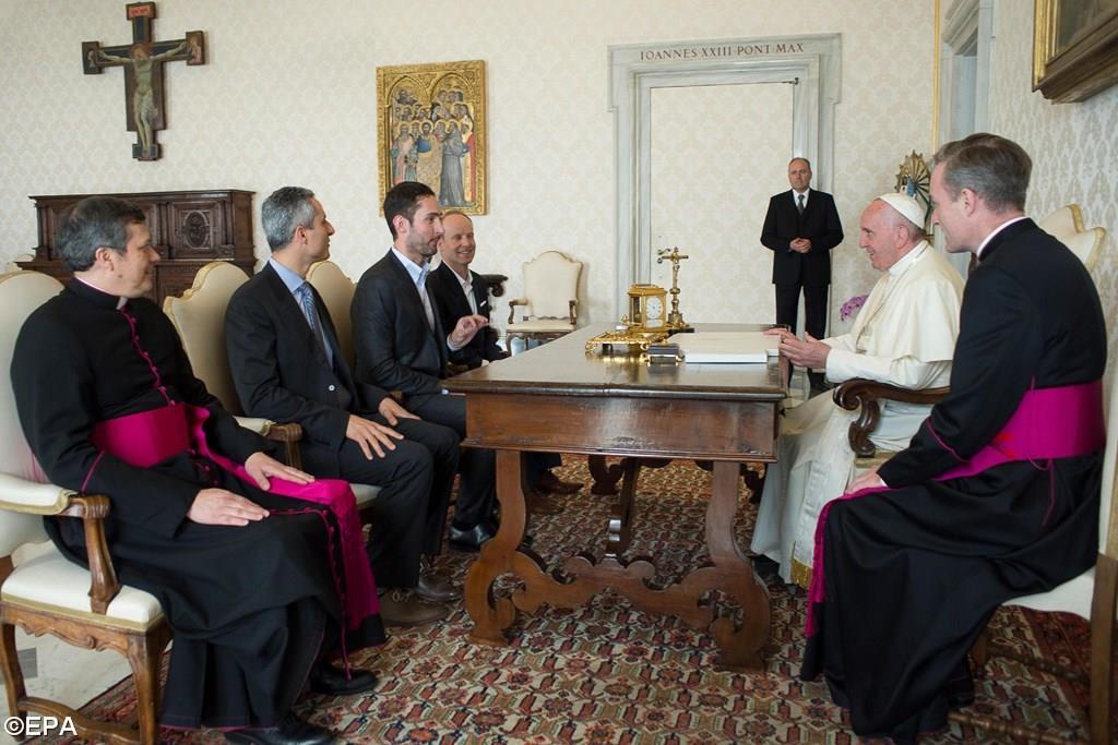Папа Франциск принял на аудиенции основателя INSTAGRAM