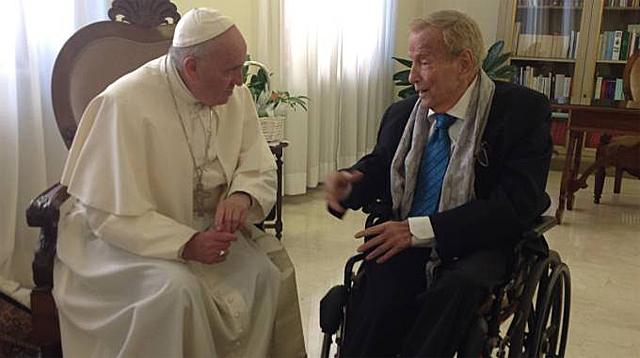 Папа встретился с итальянским режисером Франко Дзеффирелли