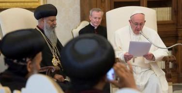 Встреча Папы Франциска с Патриархом Абуной Матфием I: имена наших мучеников вписаны в единый мартиролог Божьей Церкви