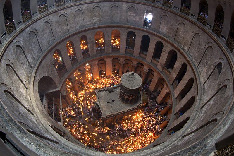 ?Началась реставрация кувуклии Гроба Господня