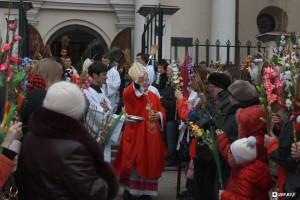 Освящение верб архиепископом Тадеушем Кондрусевичем