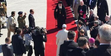 Папа Франциск прибыл на греческий Лесбос