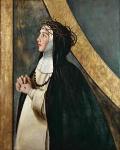 Юная монахиня Екатерина Сиенская
